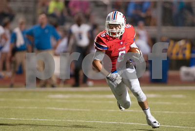 Bullard's Donovan Yeley carries the ball in the first half of their game at home against Brownsboro Friday night Sept. 4, 2015.  (Sarah A. Miller/Tyler Morning Telegraph)