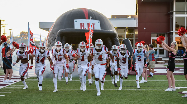 The Rusk Eagles take the field in an away game against Athens on Friday, September 6. The Eagles lost the game 28-16 and will play Palestine at home next on September 13. (Jessica T. Payne/Tyler Morning Telegraph)