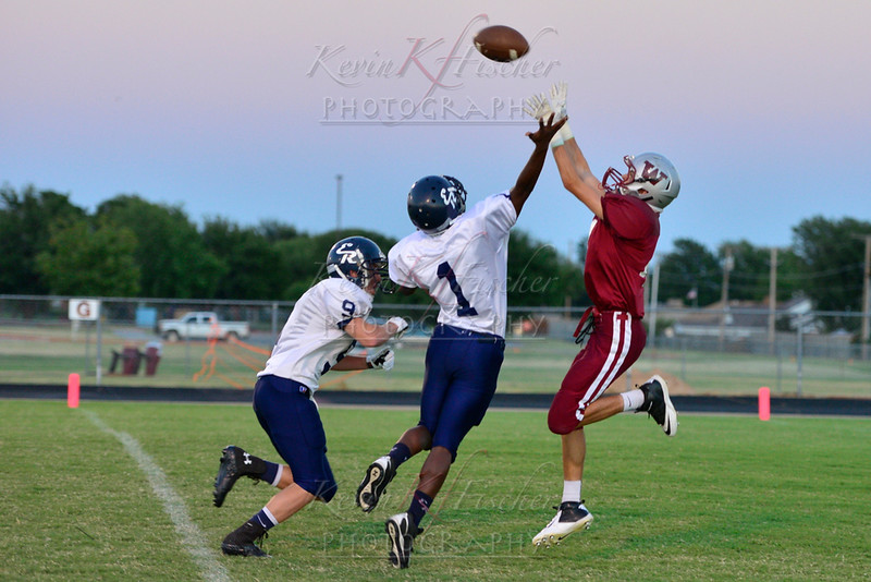 9th Grade Eagle F-ball vs El Reno~9/9/13