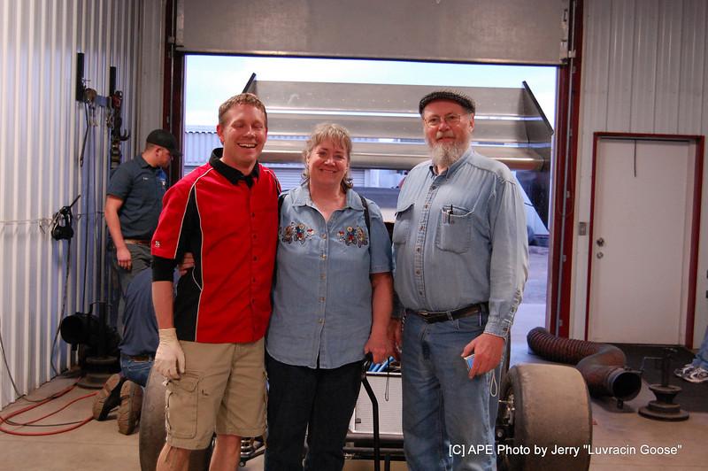 "Owner Russ & lady friend & driver Bryan Gossel ""BGR"""