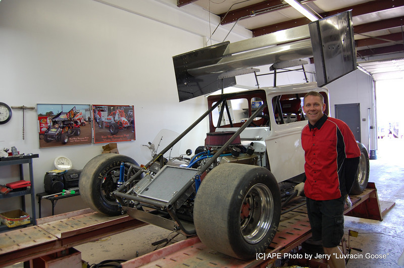 """The Mod coupe @ A F A for a chassis set up ! Bryan Gossel """"BGA"""""""