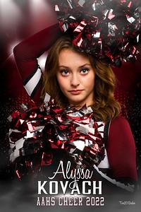 Alyssa Kovach Altoona Cheer Senior Banner