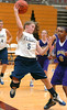 #5, Carson Carver of Flight Select Navy saves ball from goiing out of bounds during AAU finials. Photo by Ned Jilton II