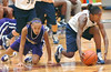 Flight Select Navy's #23 Quay Hines, gathers in ball knocked away from Missouri Valley Magic's #45, Elizabeth Ashley Quinn. Photo by Ned Jilton II
