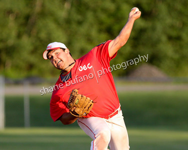 OEC Kings Starter Adam Farrar Throws A Pitch During The 2009 Vermont Legion State Championship