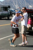 Ben Gaetos running through the checkpoint.