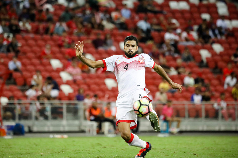 Team  Bahrain football player, in action during the AFC Asian Cup UAE 2019, in Singapore National Stadium, Singapore. (Photo by - Sanketa Anand/SportSG)