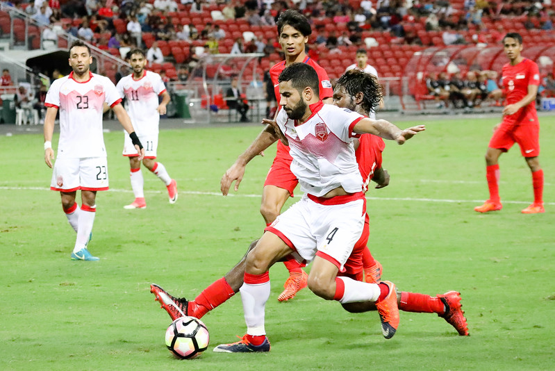 Team Singapore & Bahrain football player, in action during the AFC Asian Cup UAE 2019, in Singapore National Stadium, Singapore. (Photo by - Sanketa Anand/SportSG)