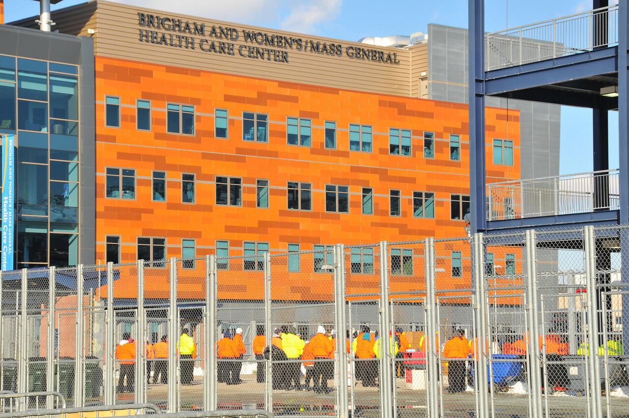 Outside of Gillette Stadium - 16 January 2011