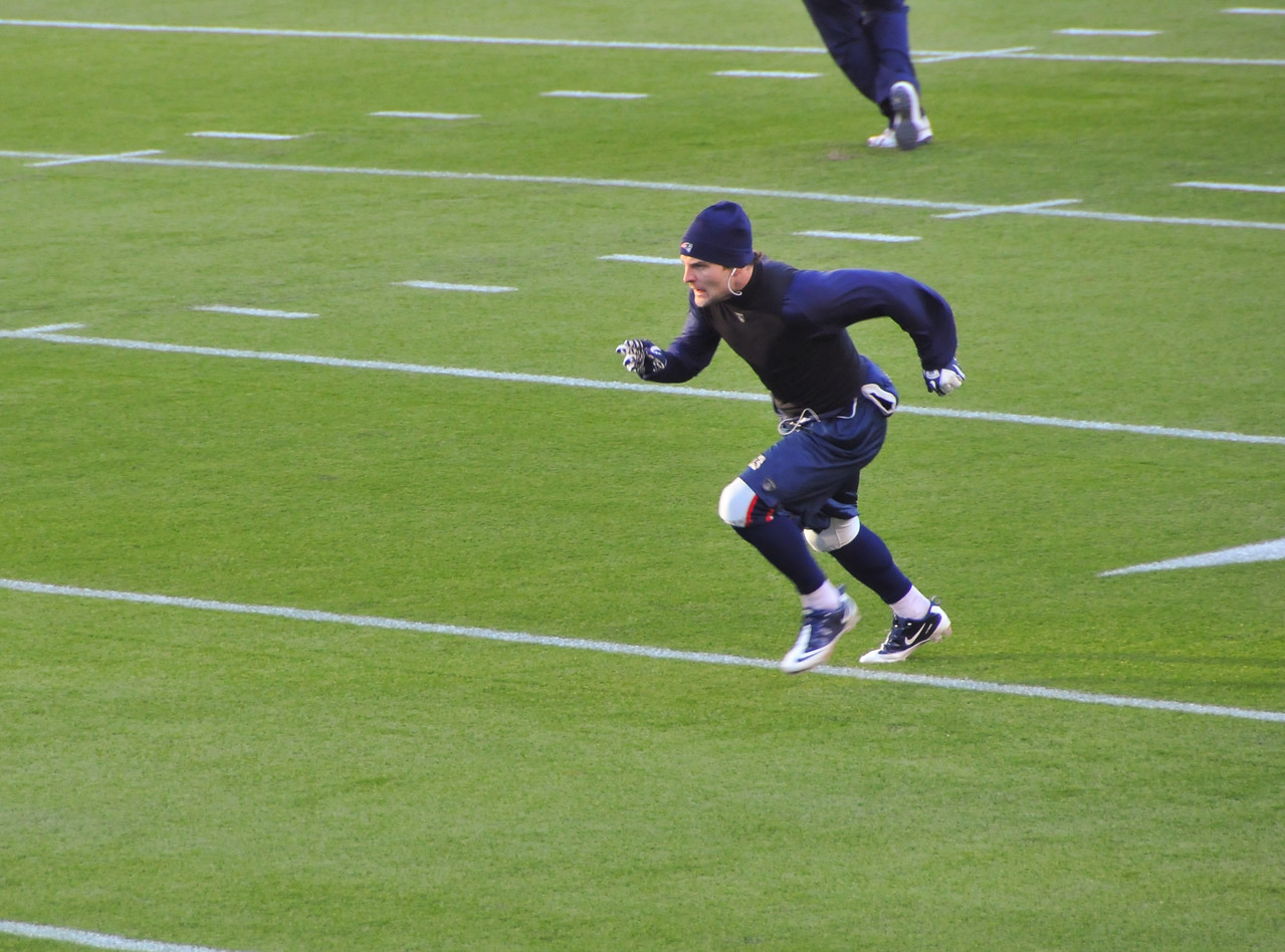 Wes Welker in Warm-ups - 16 January 2011
