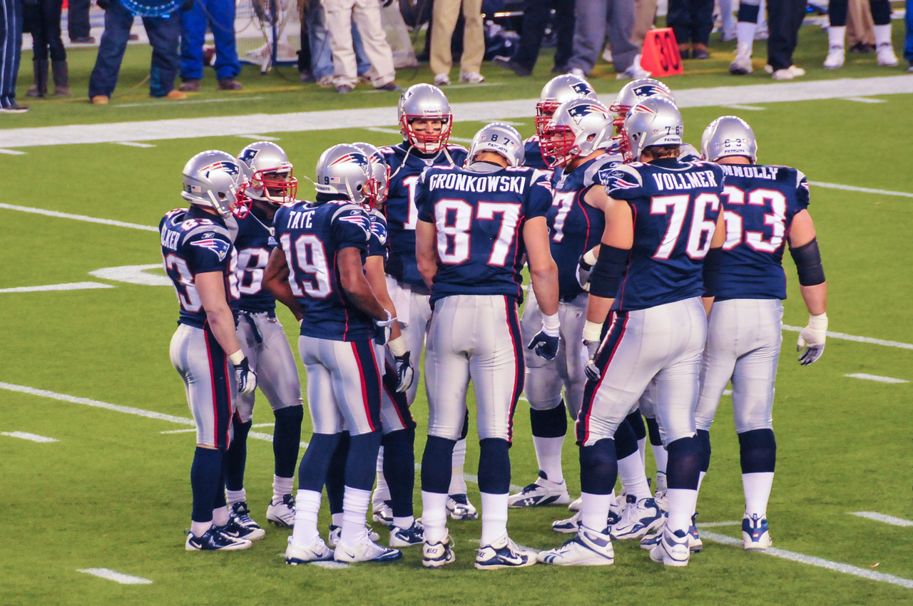 Patriots in Huddle, Gillette Stadium - 16 January 2011
