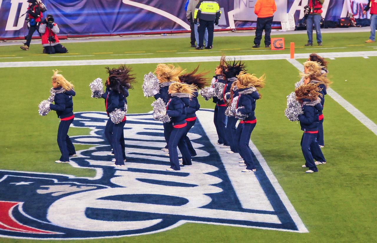 Wild hair at Gillette Stadium - 16 January 2011