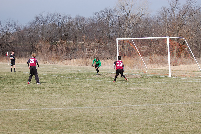 ...and Stephen was beyond it at the moment of the kick, so this one didn't count.