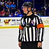 AHL All-Star Challenge Referee Geno Binda (22) handling Go Pro duties at the War Memorial Arena in Syracuse, New York on Monday, February 1, 2016.