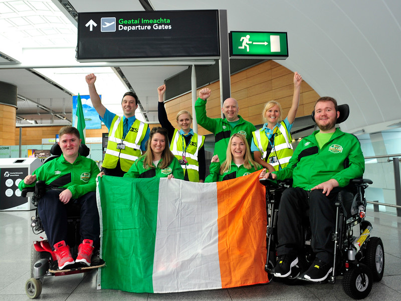 Team Ireland fly out to Orlando for Powerchair Football World Championships.