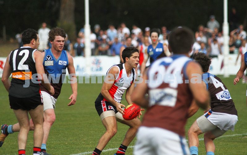 17-9-11. AJAX 2nds defeat Ormond in the grand final at Trevor Barker Oval, Sandringham. Photo: Peter Haskin