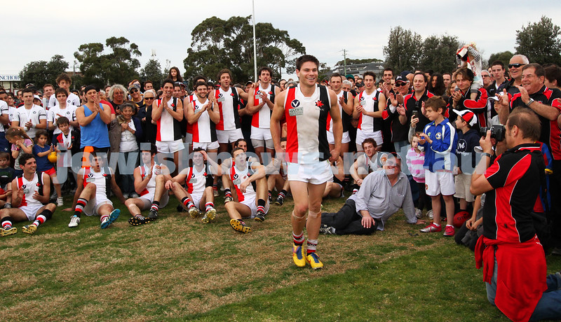 17-9-11. AJAX v Werribee. 2011 C Grade Premiers. Trevor Barker Oval, Sandringham. Eugene Routman, winner of the Michael Ritterman Medal. Photo: Peter Haskin