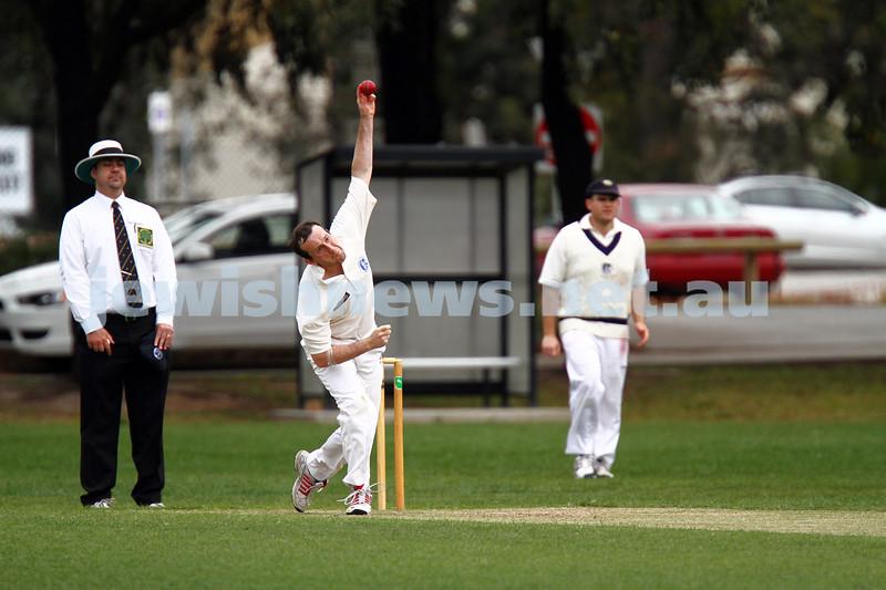 10-11-13. Cricket. AJAX first XI v Monash at Monash University. Alan Goldstein. Photo: Peter Haskin