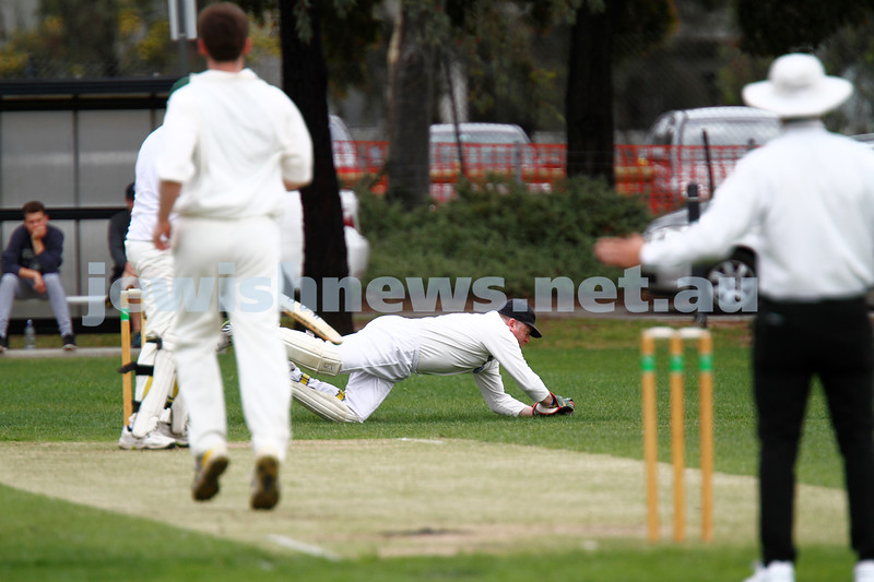 10-11-13. Cricket. AJAX first XI v Monash at Monash University. Leon Jacobs. Photo: Peter Haskin
