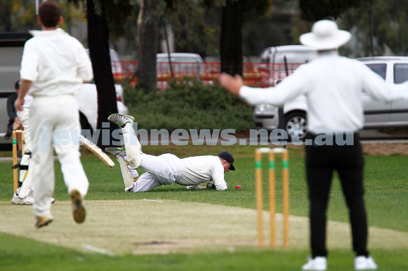 10-11-13. Cricket. AJAX first XI v Monash at Monash University. Leon Jacobs. Photo: Peter Haskin