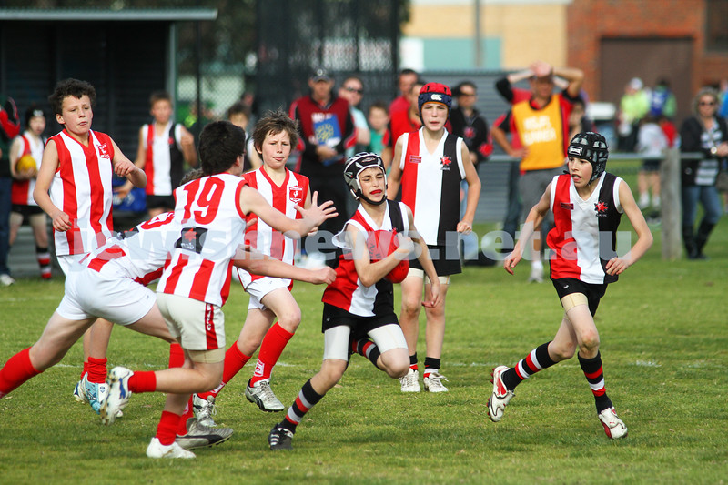 28-8-11. AJAX Under 12 Jets premiers 2011, defeating Mordialloc Braeside. Matthew Bassat. Photo: Peter Haskin