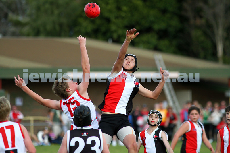 28-8-11. AJAX Under 12 Jets premiers 2011, defeating Mordialloc Braeside. Asher Berlinski. Photo: Peter Haskin