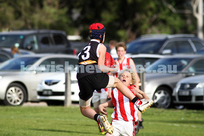 28-8-11. AJAX Under 12 Jets premiers 2011, defeating Mordialloc Braeside. Ward Williams. Photo: Peter Haskin
