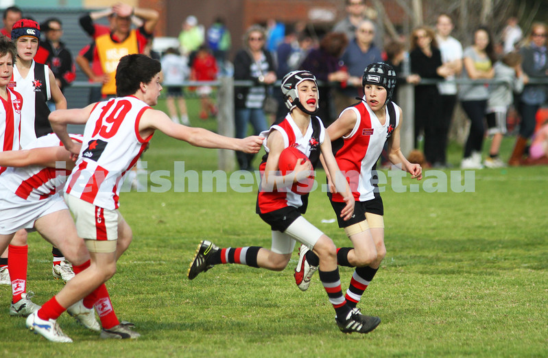 28-8-11. AJAX Under 12 Jets premiers 2011, defeating Mordialloc Braeside. Mattew Bassat. Photo: Peter Haskin