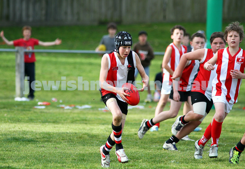 28-8-11. AJAX Under 12 Jets premiers 2011, defeating Mordialloc Braeside. Photo: Peter Haskin