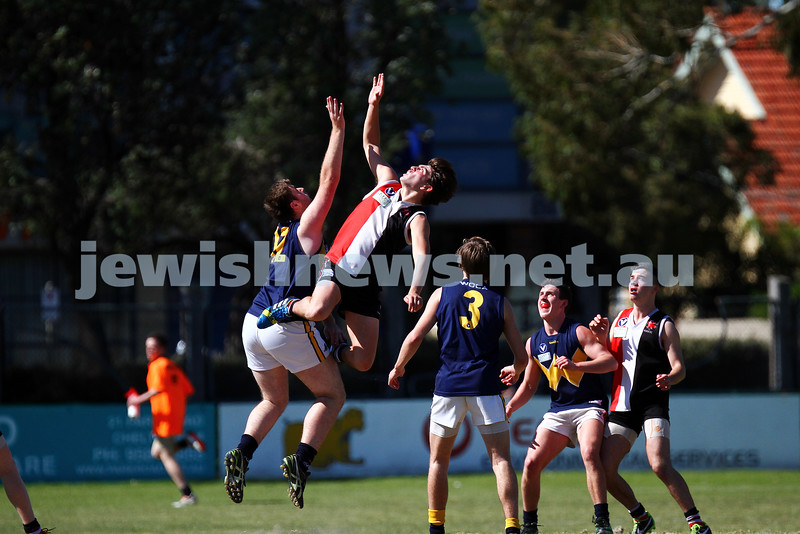 15-9-13. AJAX U 19 grand final versus Whitefriars at Trevor Barker Oval, Sandringham. AJAX were defreated by Whitefriars by 8 points in extra time. Scores were level at half time and full time.  Photo: Peter Haskin