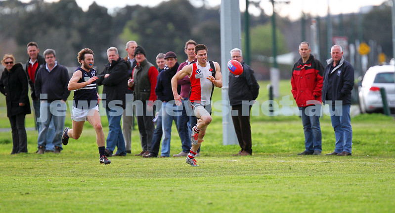 24-8-13. AJAX defeated Caulfield Grammarians by 73 points in the final match of the season.  Eugene Routman. Photo: Peter Haskin