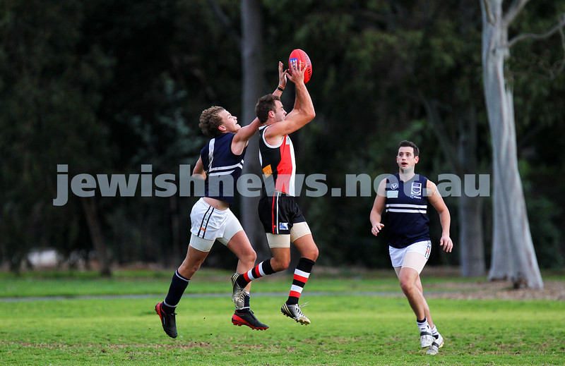24-8-13. AJAX defeated Caulfield Grammarians by 73 points in the final match of the season.  David Fayman. Photo: Peter Haskin