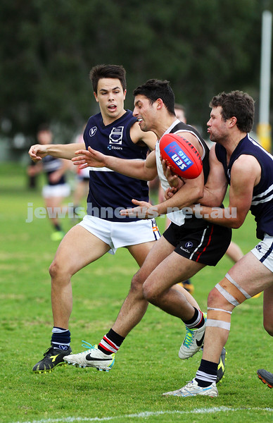 24-8-13. AJAX defeated Caulfield Grammarians by 73 points in the final match of the season. Marcus Jankie. Photo: Peter Haskin