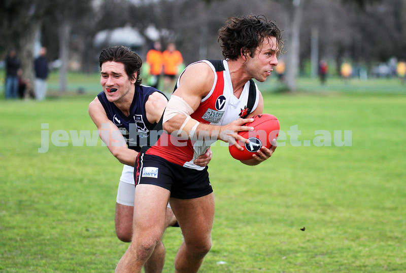 24-8-13. AJAX defeated Caulfield Grammarians by 73 points in the final match of the season. Gary Blieden. Photo: Peter Haskin