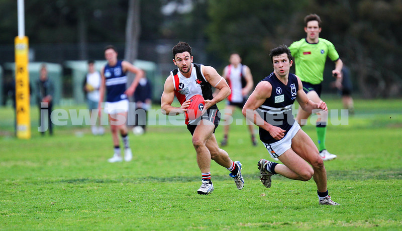 24-8-13. AJAX defeated Caulfield Grammarians by 73 points in the final match of the season. Jason Ritterman. Photo: Peter Haskin