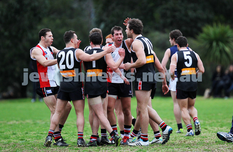 24-8-13. AJAX defeated Caulfield Grammarians by 73 points in the final match of the season. Photo: Peter Haskin
