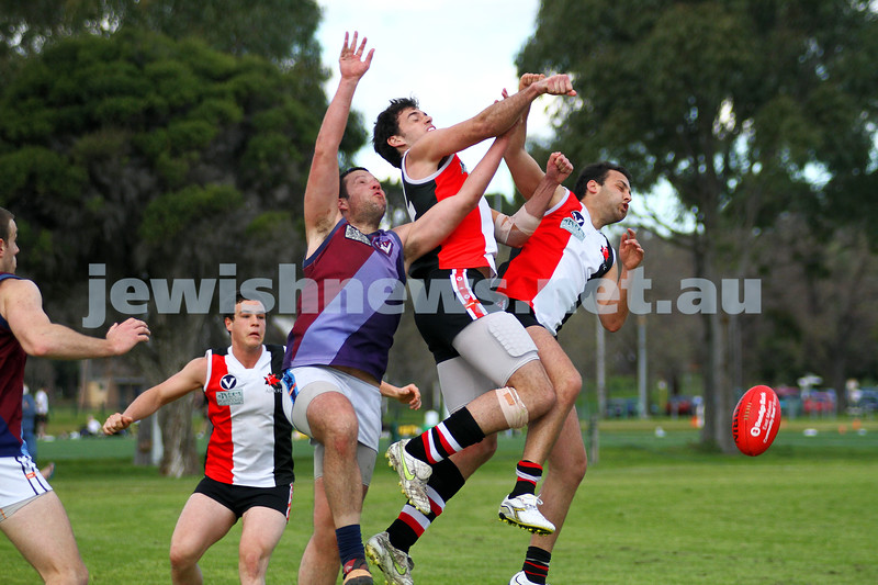 27-8-11. AJAX v Old Essendon. Photo: Peter Haskin