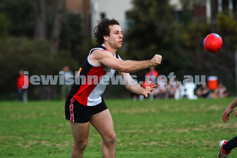 27-8-11. AJAX v Old Essendon. Gary Bleiden. Photo: Peter Haskin