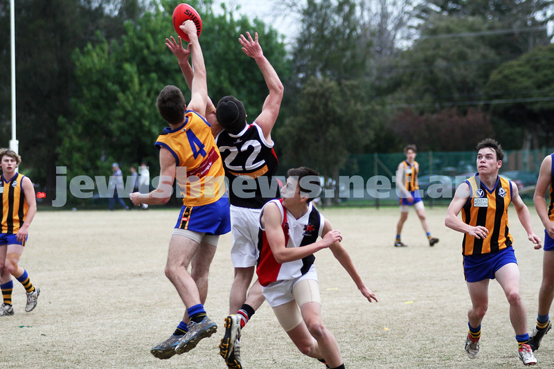 AJAX U 17 Premiers v St Bernards. Photo: Peter Haskin