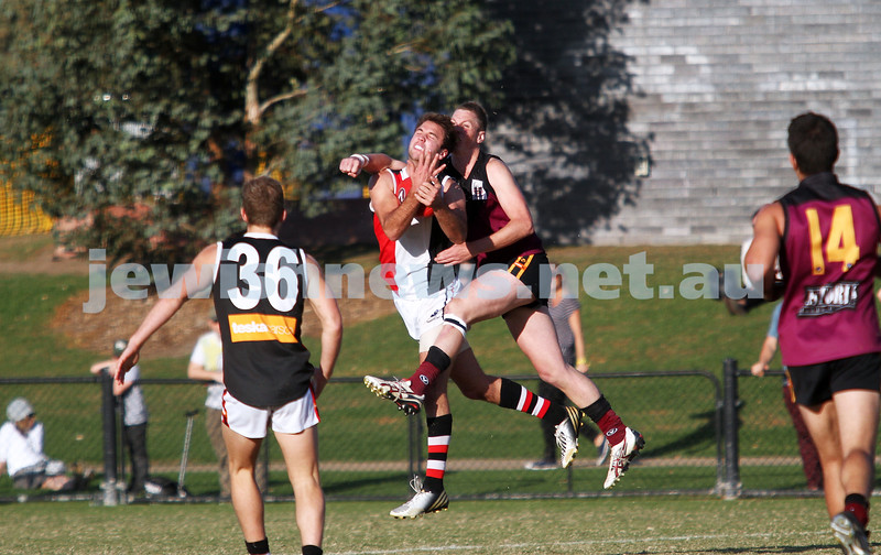 11-5-13. AJAX defeated Old Haileybury at Princes Park, Caulfield.  David Fayman. Photo: Peter Haskin