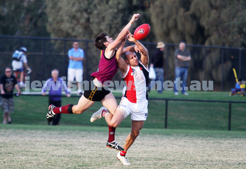 11-5-13. AJAX defeated Old Haileybury at Princes Park, Caulfield.  Ezra Poyas. Photo: Peter Haskin