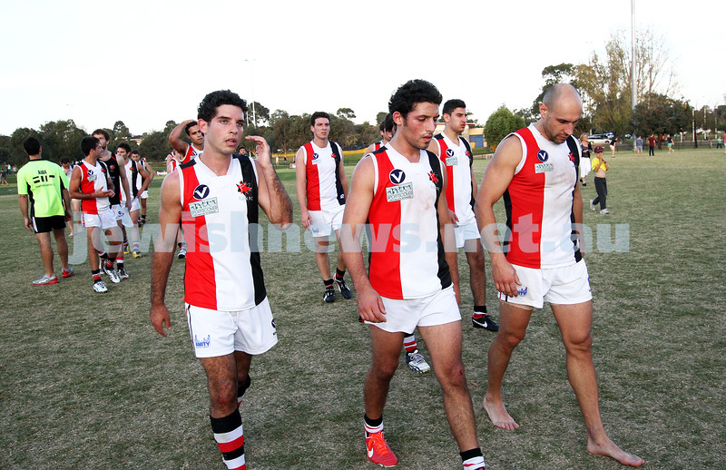 11-5-13. AJAX defeated Old Haileybury at Princes Park, Caulfield.  Photo: Peter Haskin