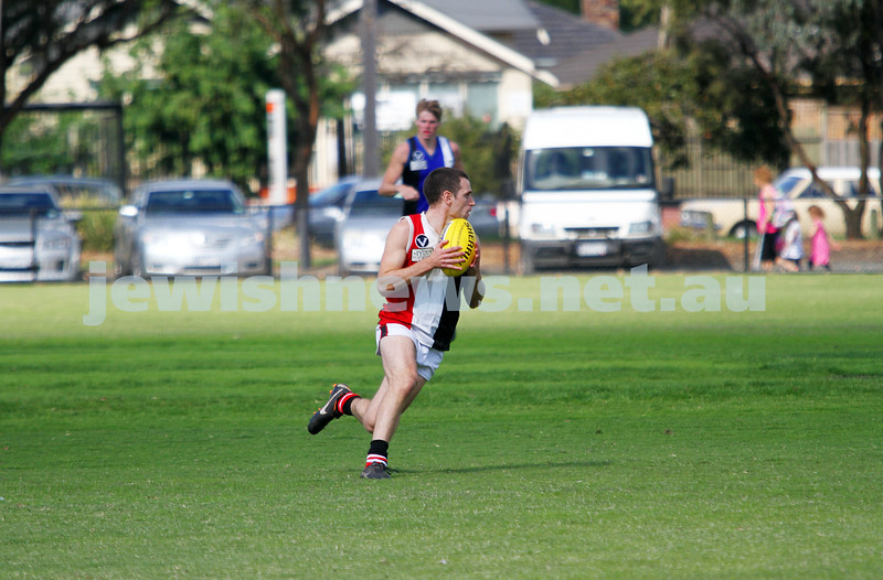6-4-13. Final practice match before start of 2012 VAFA season. AJAX v Mazenod at Central Park, Glen Waverley.  Photo: Peter Haskin