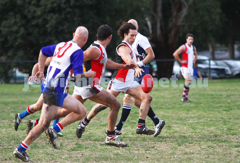 AJAX v Oakleigh. 26-5-12. Gary Blieden. Photo: Peter Haskin