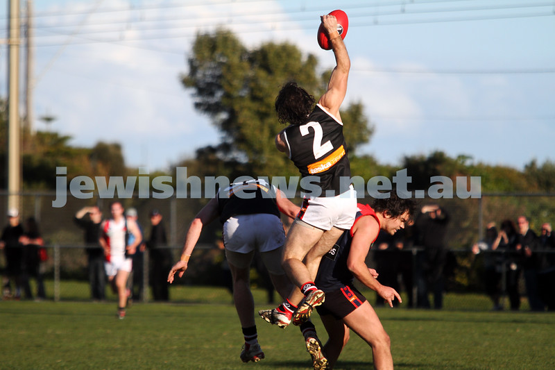 21-7-12. AJAX v Old Brighton at Brighton Beach Oval.  Jason Israelson. Photo: Peter Haskin