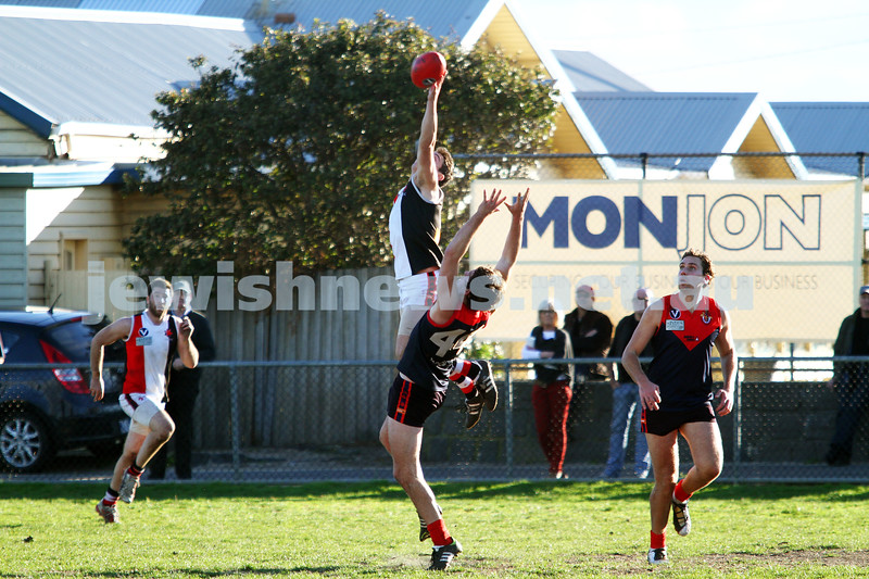 21-7-12. AJAX v Old Brighton at Brighton Beach Oval.  Photo: Peter Haskin