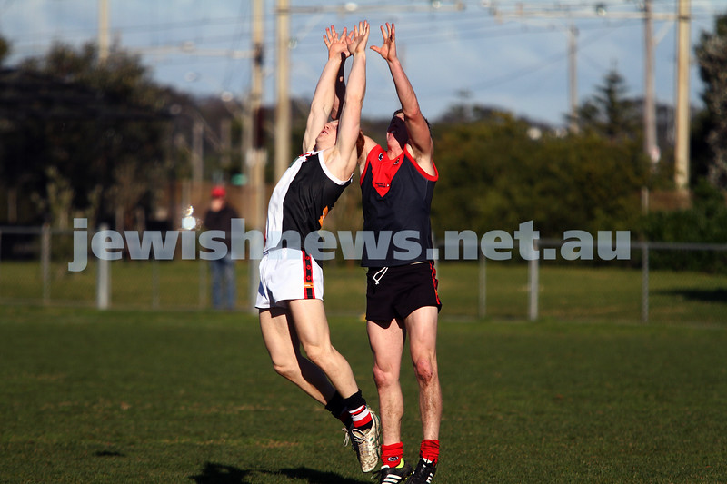 21-7-212. AJAX v Old Brighton at Brighton Beach Oval. Josh Ludski. Photo: Peter Haskin