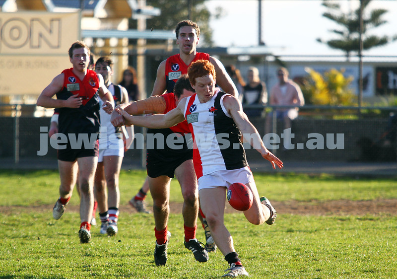 21-7-12. AJAX v Old Brighton at Brighton Beach Oval.  Josh Ludski. Photo: Peter Haskin