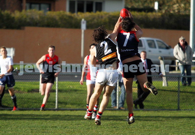 21-7-212. AJAX v Old Brighton at Brighton Beach Oval. Photo: Peter Haskin