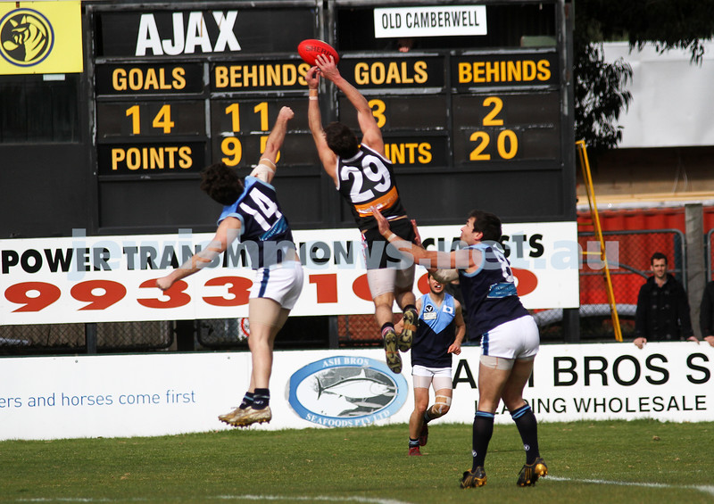 10-9-11. Ajax V Old Camberwell, Preliminary Final. Adam Caplan. Photo: Peter Haskin